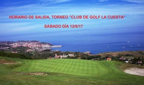 Golf La Cuesta - HORARIO DE SALIDA TORNEO CLUB DE GOLF LA CUESTA - Club de Golf La Cuesta